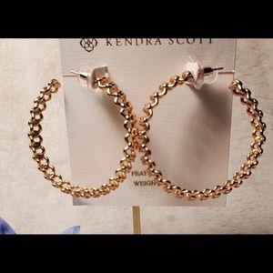 Kendra Scott Rose Gold Fallyn Hoops